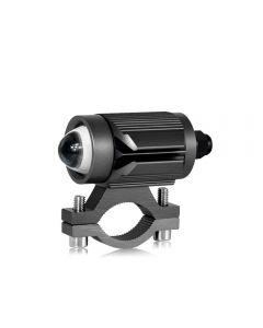CNSUNNYLIGHT Tri-modèle Moto LED Phare avec Mini Projecteur Lentille Voiture ATV Conduite Antibrouillard Projecteur Auxiliaire