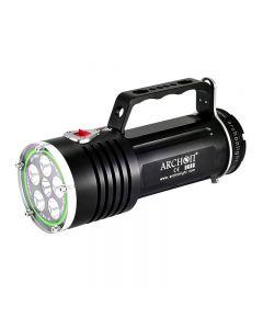 Archon Dg60 Wg66 6 * Cree Xm-L2 U2 Led Max 5000Lm 3 Modes Led Plongée Lumière + 6 * 18650 Batterie + Chargeur