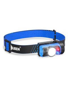 Lampe frontale WUBEN H3 LED 7 modes de fonctionnement 120 lumens Mini lampe frontale étanche 360 ° lumière réglable