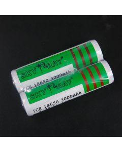 Sky Ray Icr 18650 3000Mah 3.7V Li-Ion Batterie Avec Pcb (1 Paire)