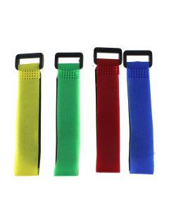 4 Pcs 2Cm * 30Cm Bandage De La Batterie Bouton Magique Velcro