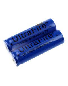 Batterie Non Protégée Rechargeable Rechargeable De Ultrafire Tr 18650 3.7V 5000Mah Li-Ion (1 Paire)