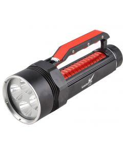 Lustefire Dv400 4 * Cree Xm-L2 Max 4000 Lumens Dimming Led De Plongée De La Lampe De Lampe De Lampe De Poche-Rouge (2 * 26650)