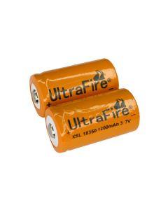 Batterie Ultrafire Xsl 18350 1200Mah 37V Li-Ion (Une Paire)