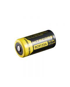 Nitecore Nl166 650Mah Rcr123A 3.7V 2.4Wh Li-Ion Batterie Rechargeable Pour Des Dispositifs De Vidange Élevés (1-Pc)
