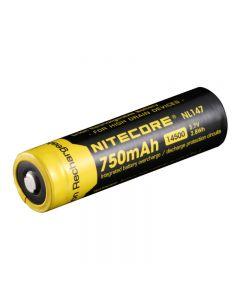 Nitecore Nl147 750Mah 14500 3.7V 2.8Wh Li-Ion Batterie Rechargeable Pour Appareils De Vidange Élevés