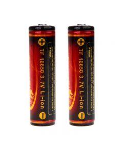Trustfire 3.7V 3000Mah 18650 Batterie Li-Ion Protégée (Une Paire)