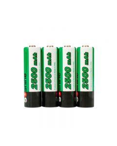 Batterie Rechargeable Rechargeable De Soshine 2500Mah Aa 1.2V Ni-Mh Avec Boîtier De Batterie (4-Unité)