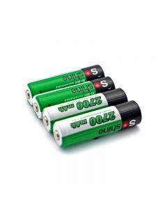 Batterie Rechargeable Rechargeable De Soshine 2700Mah Aa 1.2V Ni-Mh Avec Boîtier De Batterie (4-Unité)