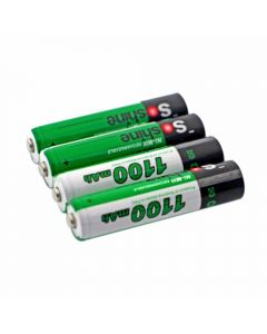 Batterie Rechargeable Rechargeable De Soshine 1100Mah Aaa 1.2V Ni-Mh Avec Boîtier De Batterie (4-Unité)