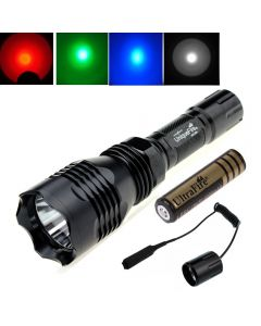 Uniquefire Hs-802 Cree Xpe Long Lampe De Poche À Led Avec 1 * 18650 + Interrupteur De Commande À Distance