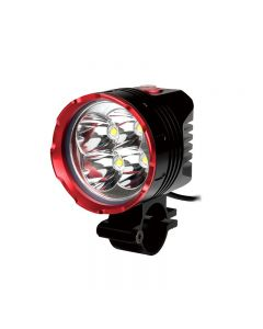 Uniquefire Hd-015 Noir Couleur Rouge 4 * Cree Xm-L2 3 Modes 4200 Lumens Lumière De Vélo Avec 4 * 18650 Piles Imperméables