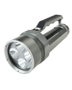 Lustefire Dv400 4 * Cree Xm-L2 Max 4000 Lumens Dimming La Lampe De La Plongée De Plongée (2 * 26650, Pas Inclure) -Gray + Noir