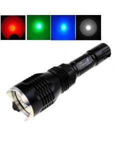 Uniquefire Hs-802 Cree Rouge / Bleu / Vert / Blanc Light Light Long Lampe De Poche À Led Avec Tête En Acier Inoxydable
