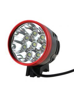 Tête Rouge 8T6 Led Lumière De Vélo 8Xcree Xml-T6 Led 3 Mode 8000 Lumen Lumière De Vélo Avec Pack Batterie De 8,4 V 4X18650