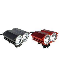 Solarstorm X2 M2 2 * Cree Xml-T6 2000 Lumen Led Vélo De Vélo Led Avec 4 * 18650 Batterie Pack-Black