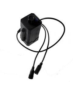 Boîte De Batterie De Batterie De Puissance Rechargeable Rechargeable Imperméable 2 Ou 4 Pcs 18650 Pour La Lumière De Vélo Avec Dc Usb Dual Ports