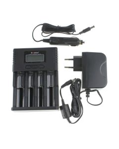 Soshine H4 Lcd Smart Universal Charger Pour 26650 18650 16340 Li-Ion Lififepo4 Nimh 1.2V C Aa Batterie Aaa + Chargeur De Voiture