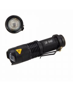 Lampe De Poche Mini Sk68 Led 5W 940Nm Led Radiation Infrarouge De Vision Night Vision Night Ir Torch (1 * Aa / 14500 Batterie)