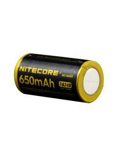 Nitecore Nl1665R 650Mah 16340 Cr123 Port De Charge Micro-Usb Intégré Batterie Rechargeable Li-Ion 3.6V 2.34Wh Haute Performance