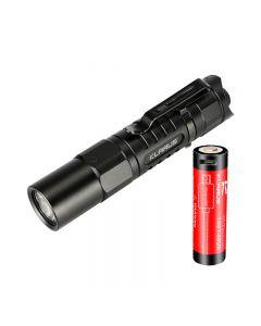 Klarus Xt1A 2018 Cree Xp-L Hd V6 Led 1000 Lumens Aa Flashlight Dual-Switch Colle-Lampe De Poche Tactique Edc