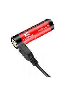 Klarus 14Gt-80Ur 3.7V 2.96Whqu 4A Charge Micro-Usb Charge Haute Décharge De 800 Mah 14500 Li-Ion Batterie (1 Pc)