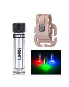 Glo-Toob Gt-Aaa Aurora Rgb 3 Couleur Light 7 Modes Sous-Marins 200M Avertissement Signal Signal Diving Lampe De Lampe De Poche Externe
