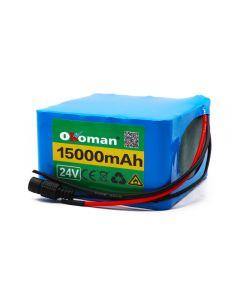 6S6P 24V 15Ah 18650 Li-Ion Battery Pack 25.2V 15000Mah Pour Scooter Ebike