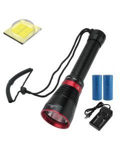 6000 lumens XHP70.2 LED lampe de poche de plongée poisson pêche lampe de poche lumière sous-marine