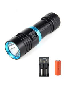 10000 lumens lampe de poche de plongée lampe de poche LED lampe de poche étanche lampe de plongée rechargeable 18650 batterie