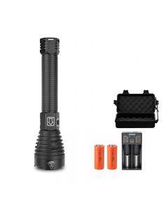 P90 LED lampe de poche forte lumière USB affichage de la puissance de charge zoom télescopique lampe de poche extérieure
