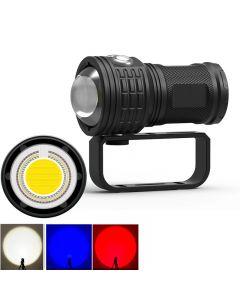 Lampe de poche de plongée 11000lumens LED COB Long Shot sous-marine étanche photographie torche vidéo
