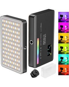 Lumière vidéo ULANZI VL120 RGB 360 polychrome 20 types d'effets d'éclairage Batterie 3100mAh intégrée pour la photographie