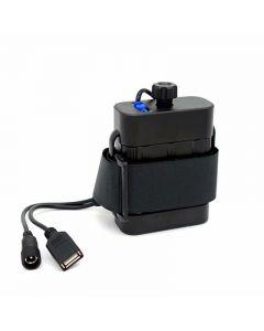 Étanche 2x26650 boîtier de batterie boîtier d'alimentation entrée/sortie cc 8.4 V USB 5 V sortie pour lampe de lumière de vélo de vélo