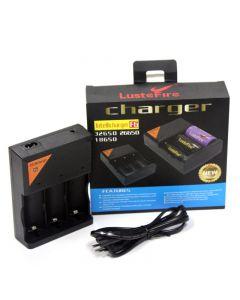 Chargeur de batterie LusteFire F6 Intellicharger 110-240V pour batterie Li-ion 32650 26650 18650