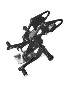Repose-pieds réglables en billette d'aluminium CNC repose-pieds arrière pour Yamaha MT07 FZ07 MT-07 FZ-07 2013-2020