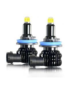 2 pièces H1 H7 H11 LED ampoule voiture antibrouillard 8 côtés 360 degrés H8 H3 9005 9006 12V 6000K pour phare automatique