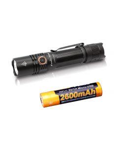 Charge USB Fenix PD35 V3.0 1700-Lumen IP68 Tac LED Lampe de Poche Kit Toch