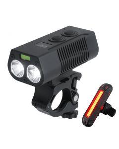 2 * T6LED USB rechargeable vélo lumière VTT vélo avant et arrière feu arrière voyant de sécurité