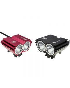 Solarstorm X2 Lumière À Bicyclette À Double Tête De 2 000 Lumen Avec 2 * Cree Xp-L V5 Led 4 Modes (4 * 18650 Batterie)