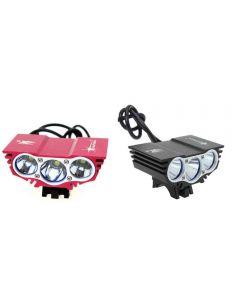 Solarstorm X3 3Xcree Xm-L U2 Modes 4-Modes Lumière De Vélo De 2500 Lumens