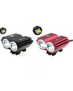 Solarstorm X2 Avec 2Xcree Xm-L2 Led Pilre De Vélo À 4 Mode, Jeu De Lampes De Vélo (Pack De Batterie De 8,4 V Compris)