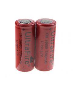 Ultrafire Cn 26650 3.7V 7200Mah Batterie Li-Ion Non Protégée-2 Pack