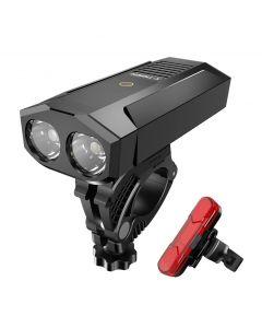 Lumière de vélo USB rechargeable en plein air vélo de montagne étanche lumière de vélo avec accessoires de vélo